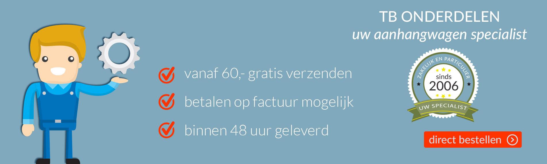 De aanhanger onderdelen webshop van Nederland