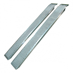 Aluminium oprijplaten / oprijplanken 400 kg set met lip-systeem