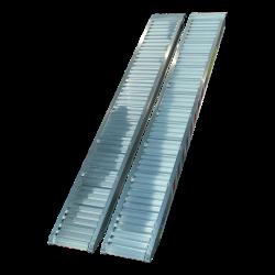 Aluminium oprijplaten / oprijplanken 2550 kg set met haaksysteem